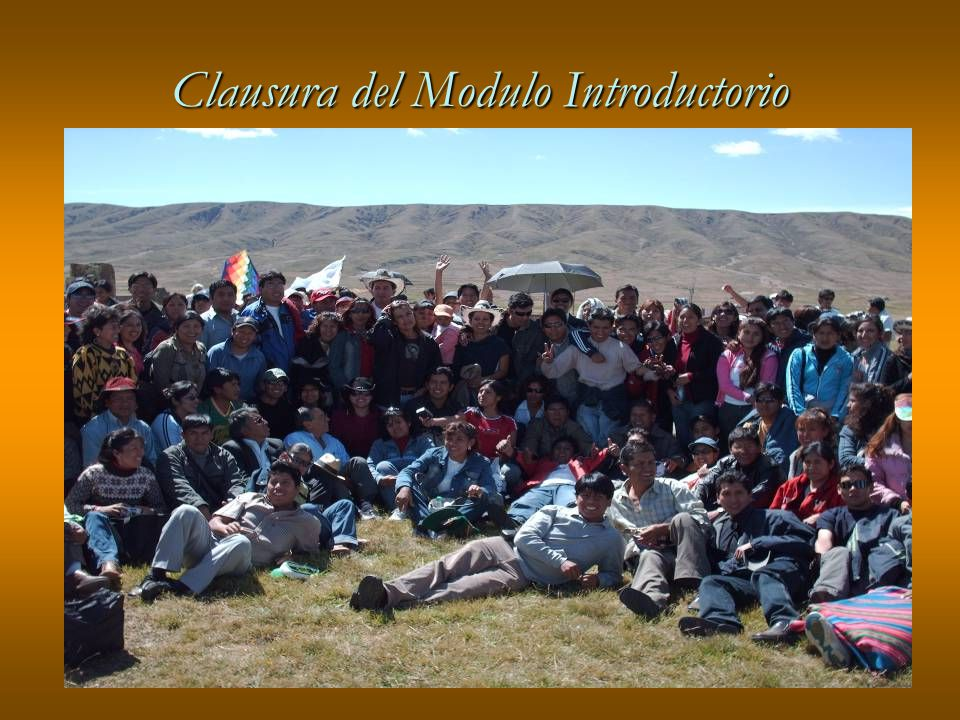 Clausura del Modulo Introductorio