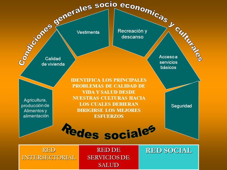 Condiciones generales socio economicas y culturales