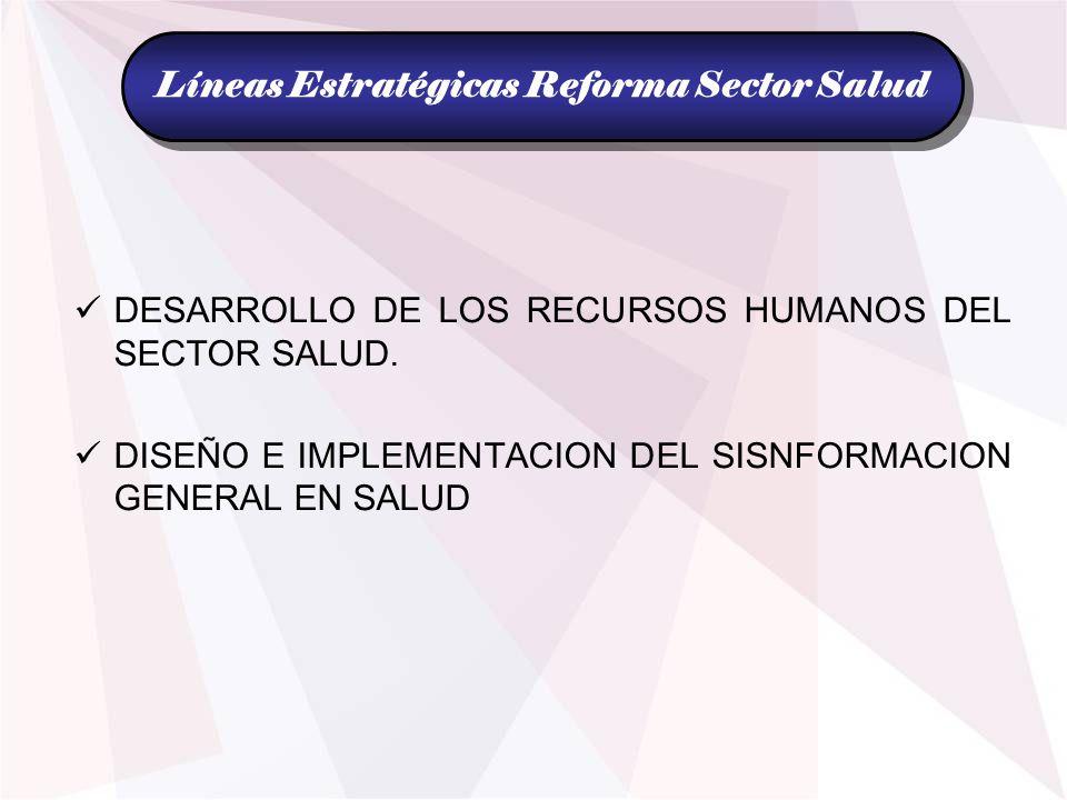 Líneas Estratégicas Reforma Sector Salud