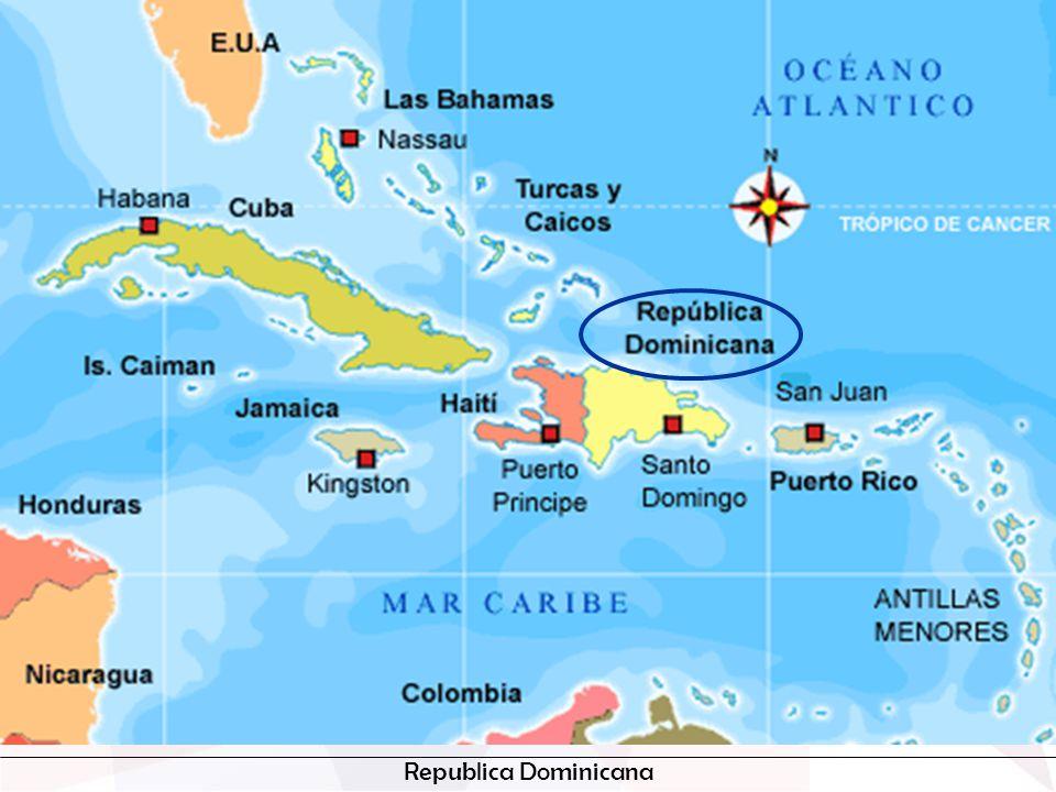 Somos un país pequeño que comparte con nuestros hermanos de Haití la isla ispaniola.