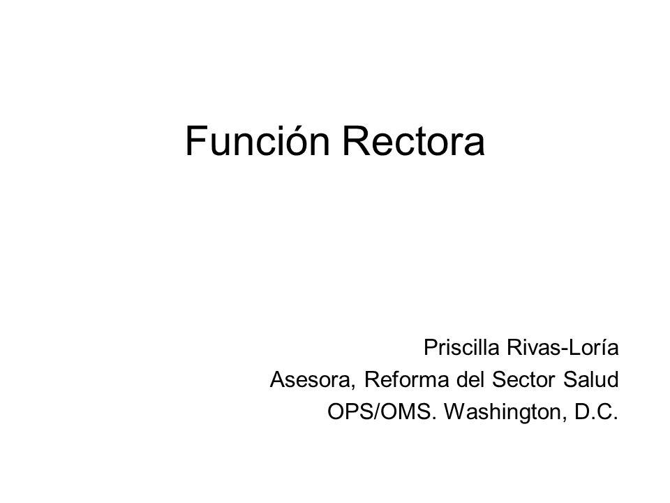 Función Rectora Priscilla Rivas-Loría