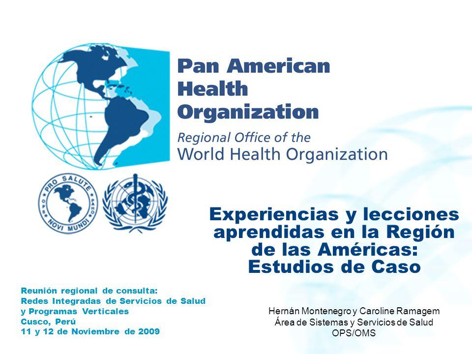 Experiencias y lecciones aprendidas en la Región de las Américas: