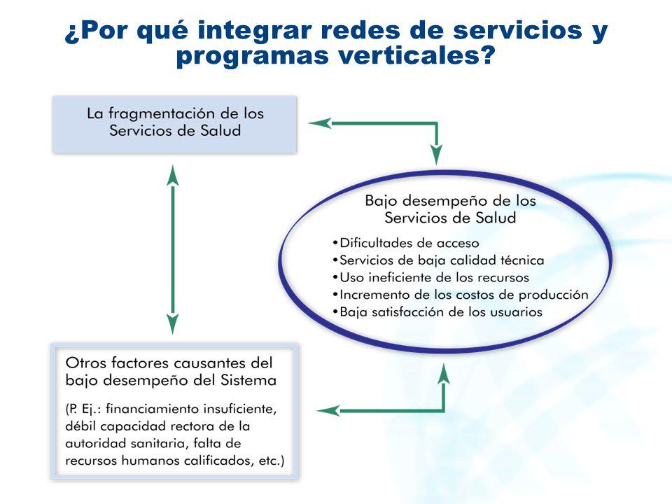 ¿Por qué integrar redes de servicios y programas verticales