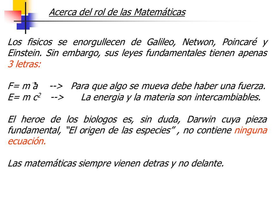 Acerca del rol de las Matemáticas