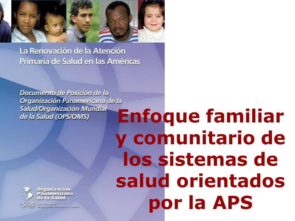 Enfoque familiar y comunitario de los sistemas de salud orientados por la APS