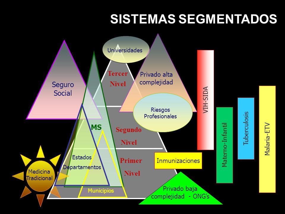 SISTEMAS SEGMENTADOS Tercer Nivel Seguro Social MS Segundo Nivel