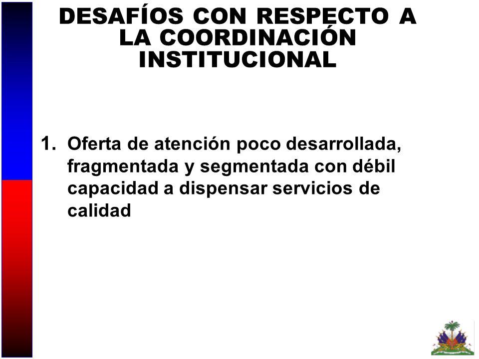 DESAFÍOS CON RESPECTO A LA COORDINACIÓN INSTITUCIONAL