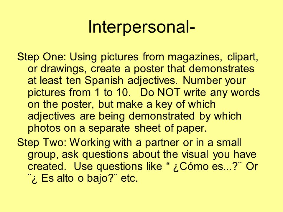 Interpersonal-