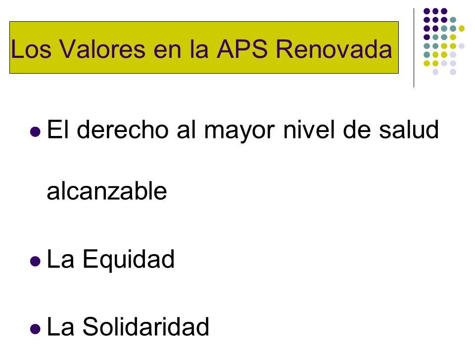 Los Valores en la APS Renovada