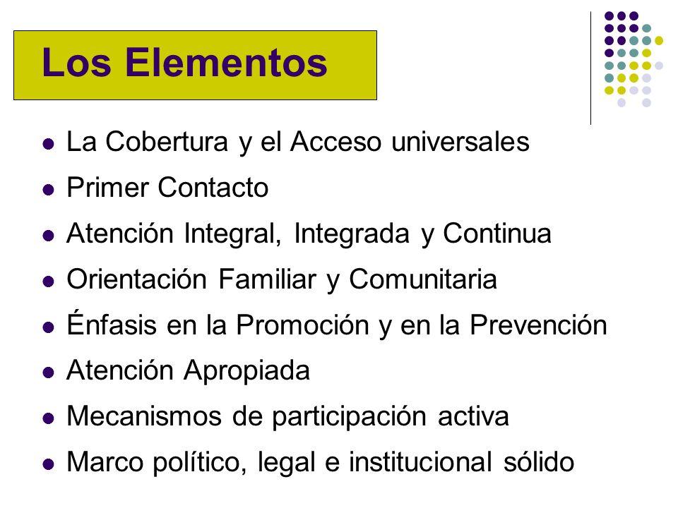 Los Elementos La Cobertura y el Acceso universales Primer Contacto