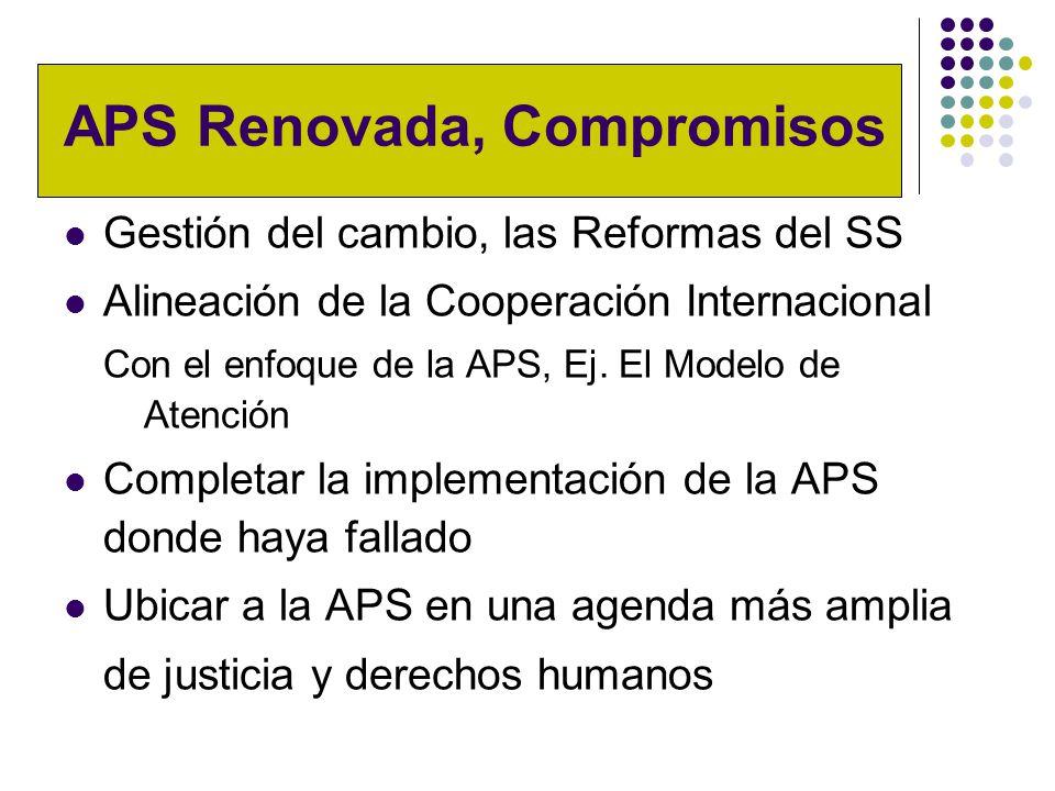 APS Renovada, Compromisos