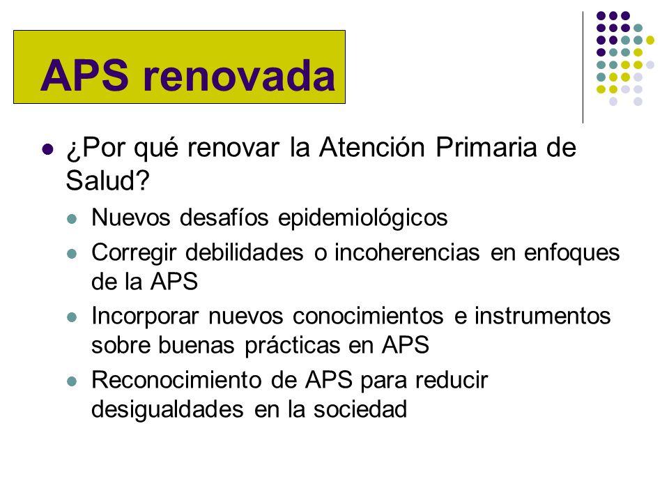 APS renovada ¿Por qué renovar la Atención Primaria de Salud