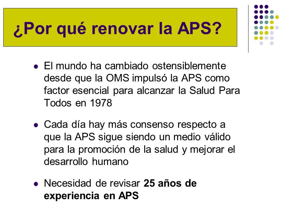 ¿Por qué renovar la APS