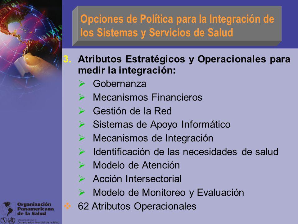 Opciones de Política para la Integración de los Sistemas y Servicios de Salud