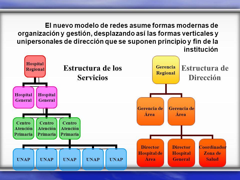 Estructura de los Servicios Estructura de Dirección