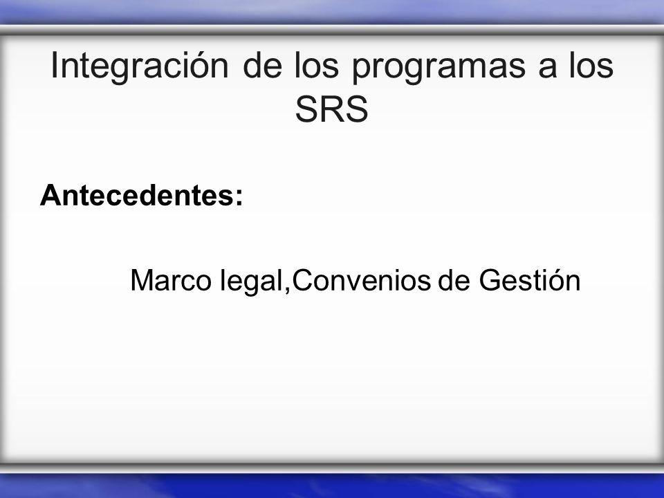 Integración de los programas a los SRS