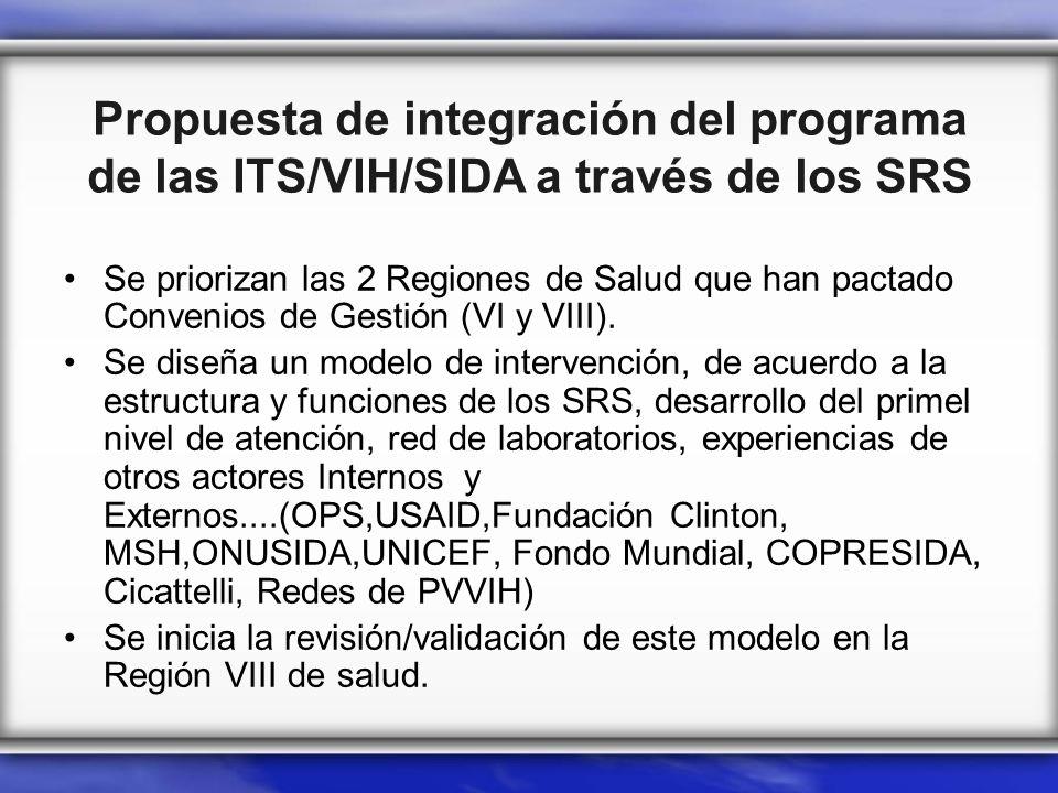 Propuesta de integración del programa de las ITS/VIH/SIDA a través de los SRS