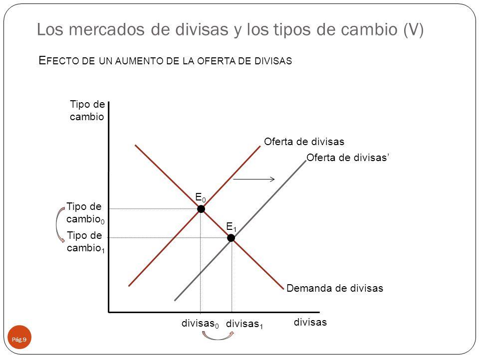 Los mercados de divisas y los tipos de cambio (V)