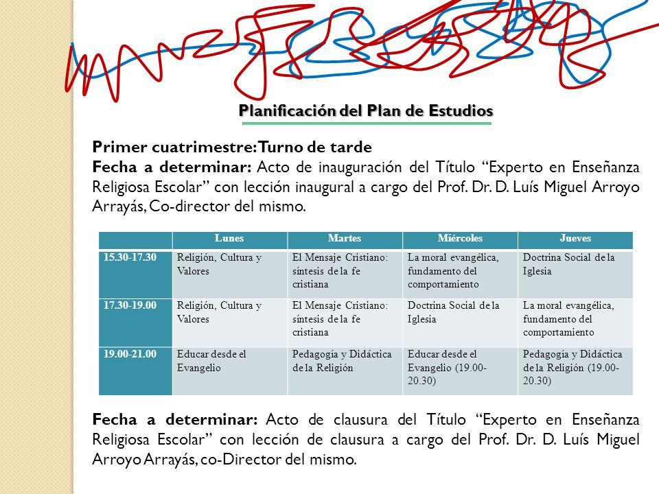 Planificación del Plan de Estudios