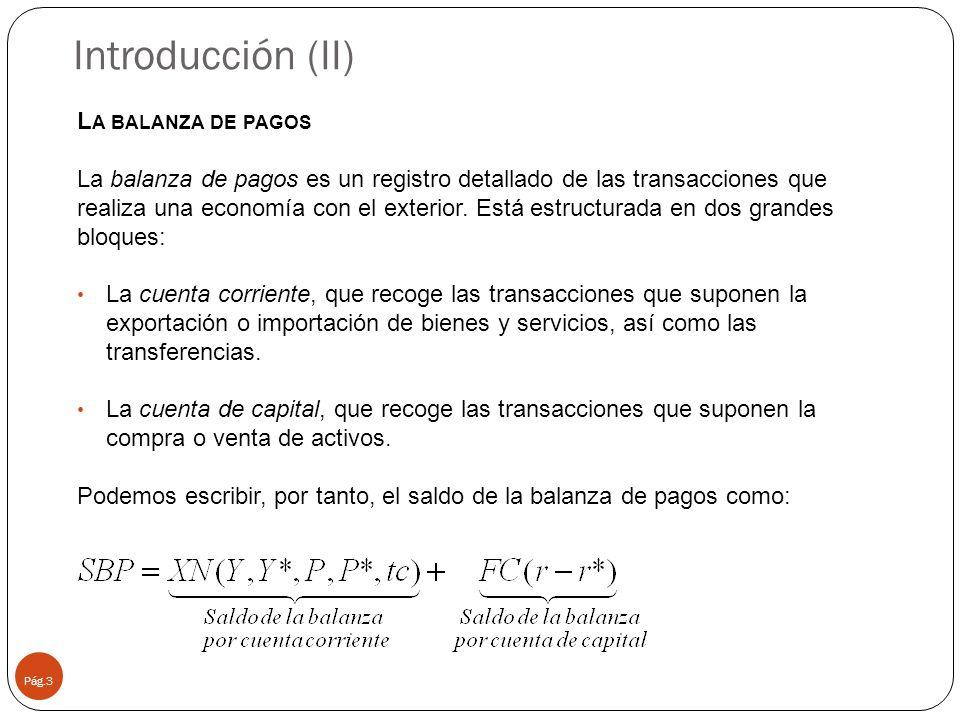 Introducción (II) La balanza de pagos