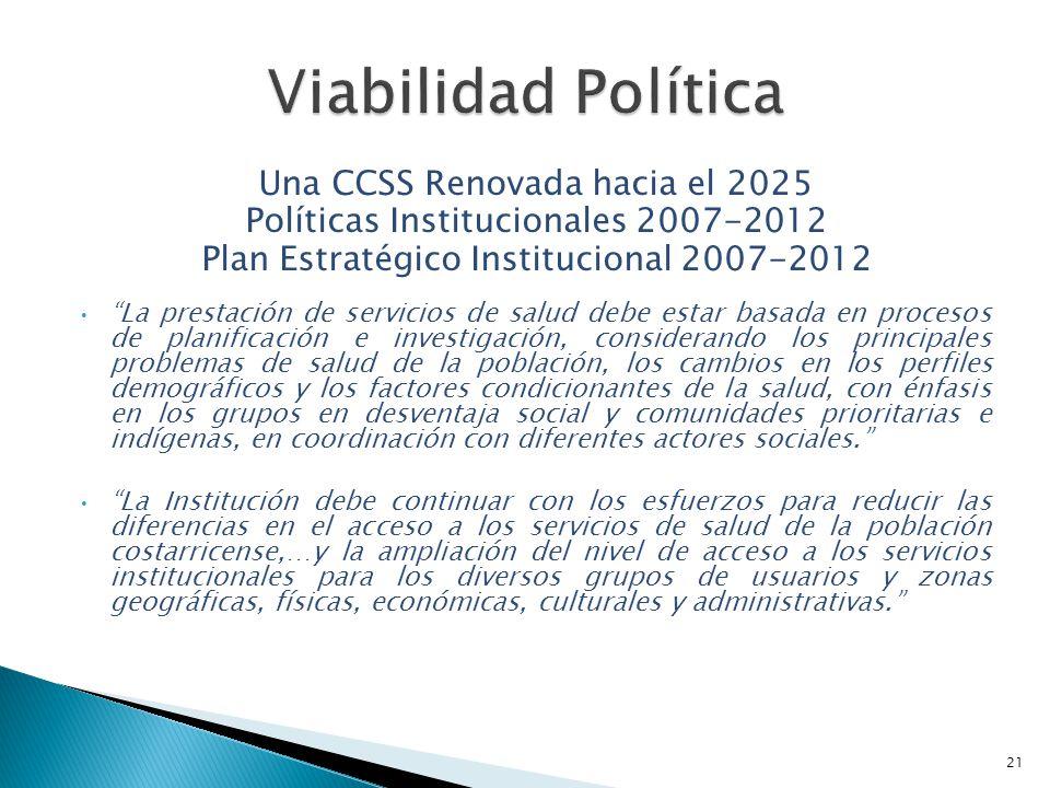 Viabilidad Política Una CCSS Renovada hacia el 2025