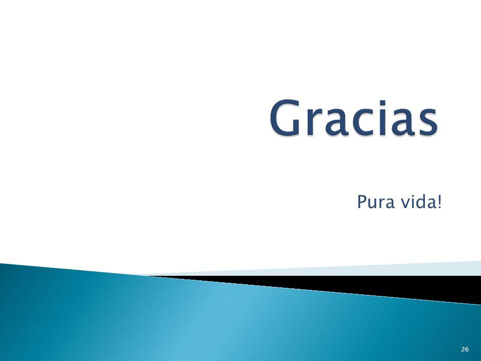 Gracias Pura vida!