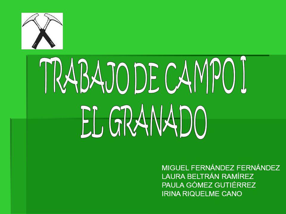 TRABAJO DE CAMPO I EL GRANADO. MIGUEL FERNÁNDEZ FERNÁNDEZ. LAURA BELTRÁN RAMÍREZ. PAULA GÓMEZ GUTIÉRREZ.