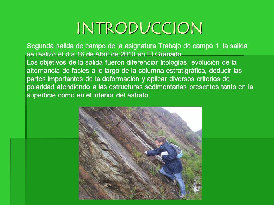 INTRODUCCION Segunda salida de campo de la asignatura Trabajo de campo 1, la salida se realizó el día 16 de Abril de 2010 en El Granado.