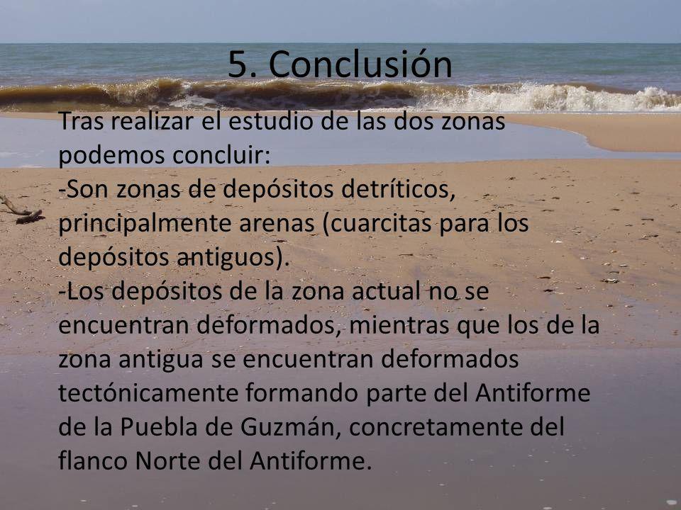 5. Conclusión Tras realizar el estudio de las dos zonas podemos concluir: