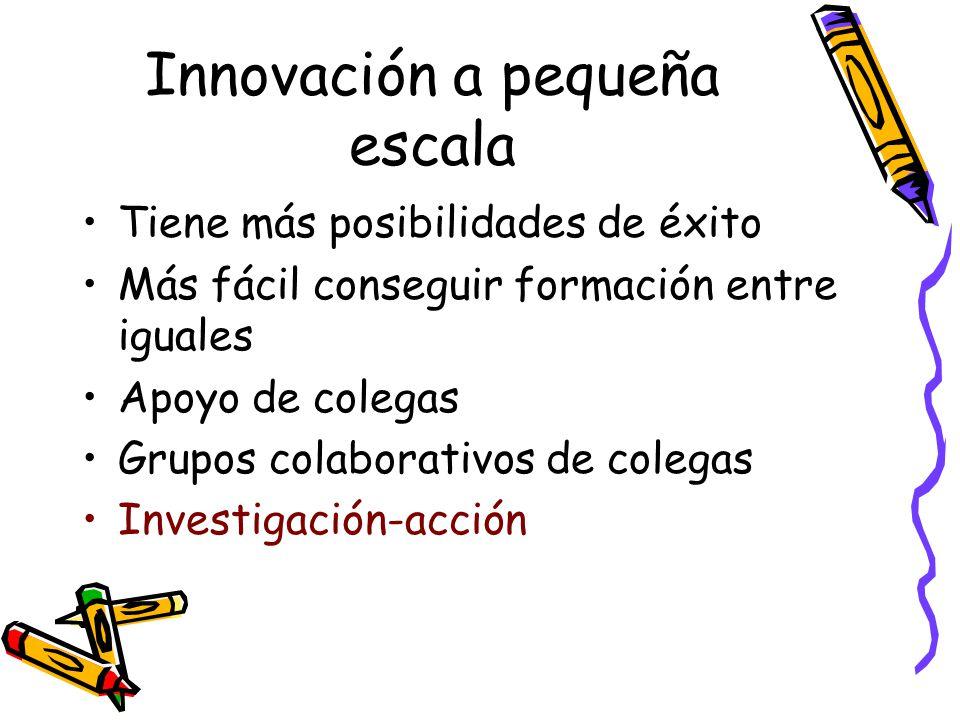 Innovación a pequeña escala