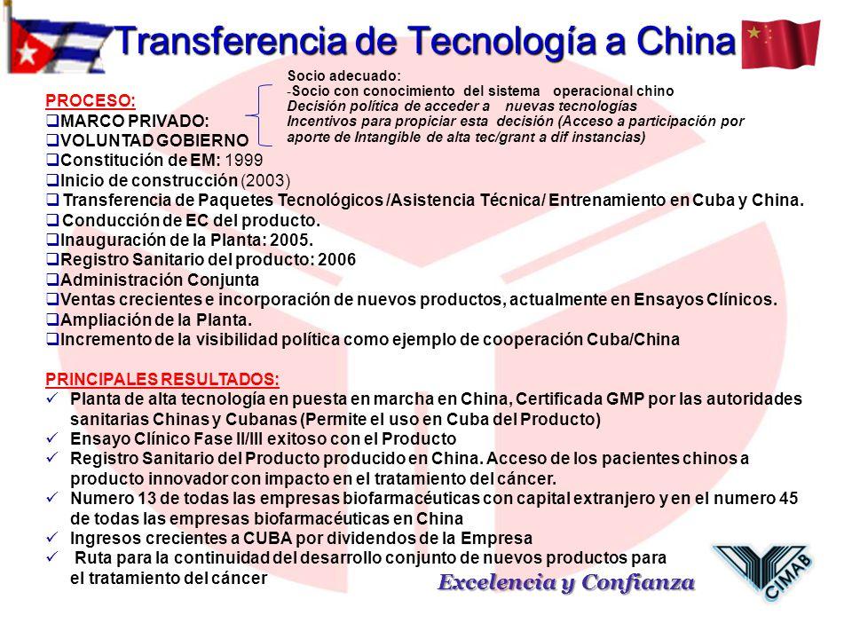 Transferencia de Tecnología a China