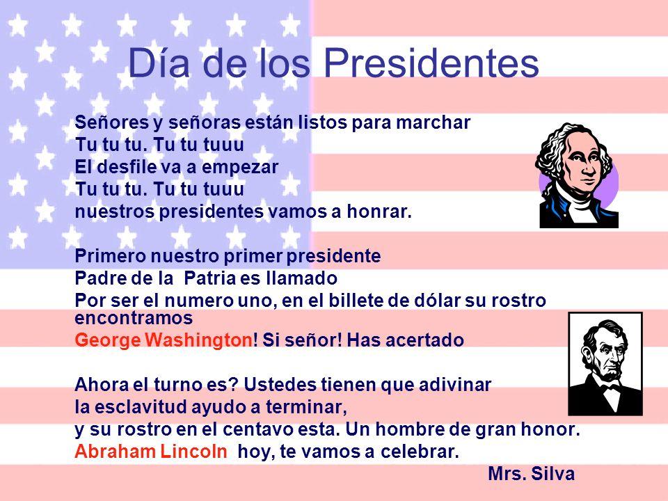 Día de los Presidentes Señores y señoras están listos para marchar