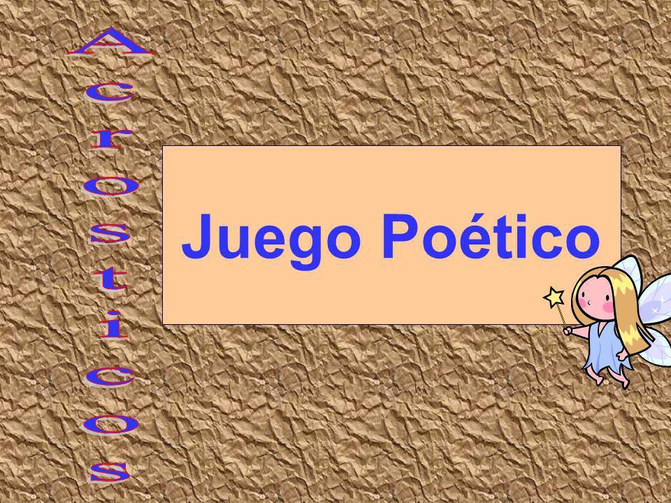 Juego Poético 230 Acrosticos