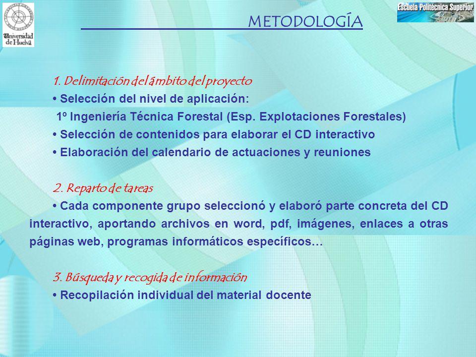 METODOLOGÍA 1. Delimitación del ámbito del proyecto