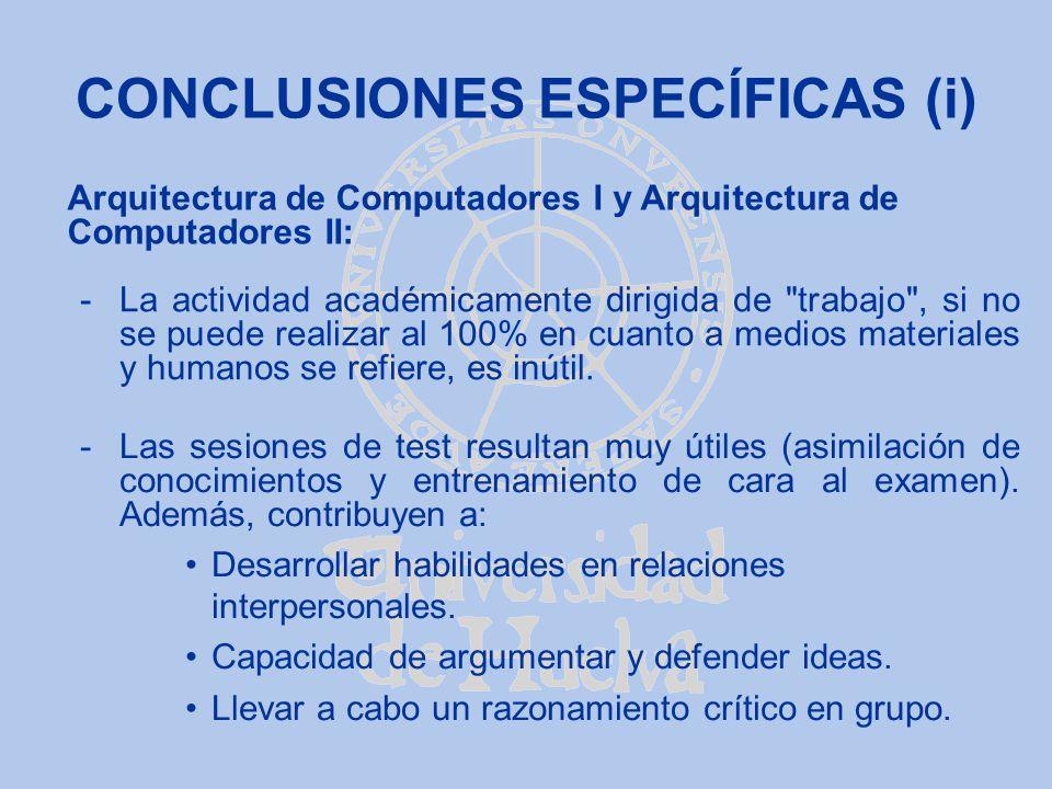 CONCLUSIONES ESPECÍFICAS (i)