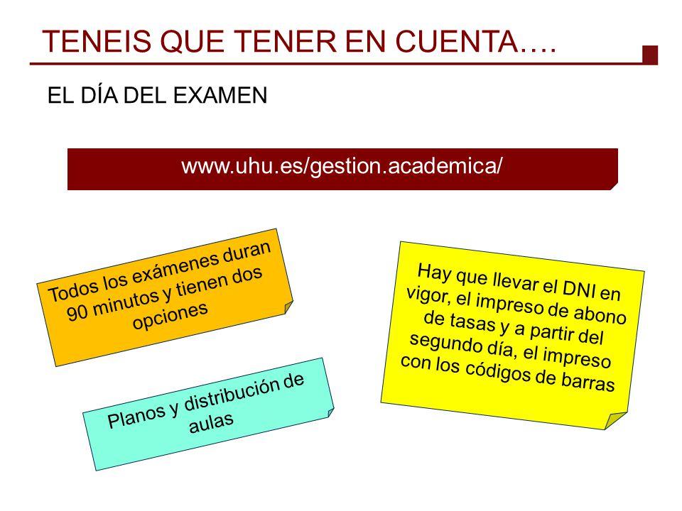 TENEIS QUE TENER EN CUENTA….