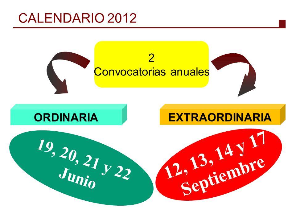Convocatorias anuales