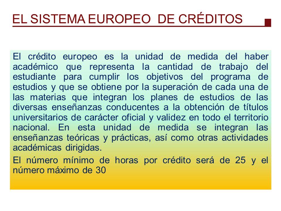 EL SISTEMA EUROPEO DE CRÉDITOS