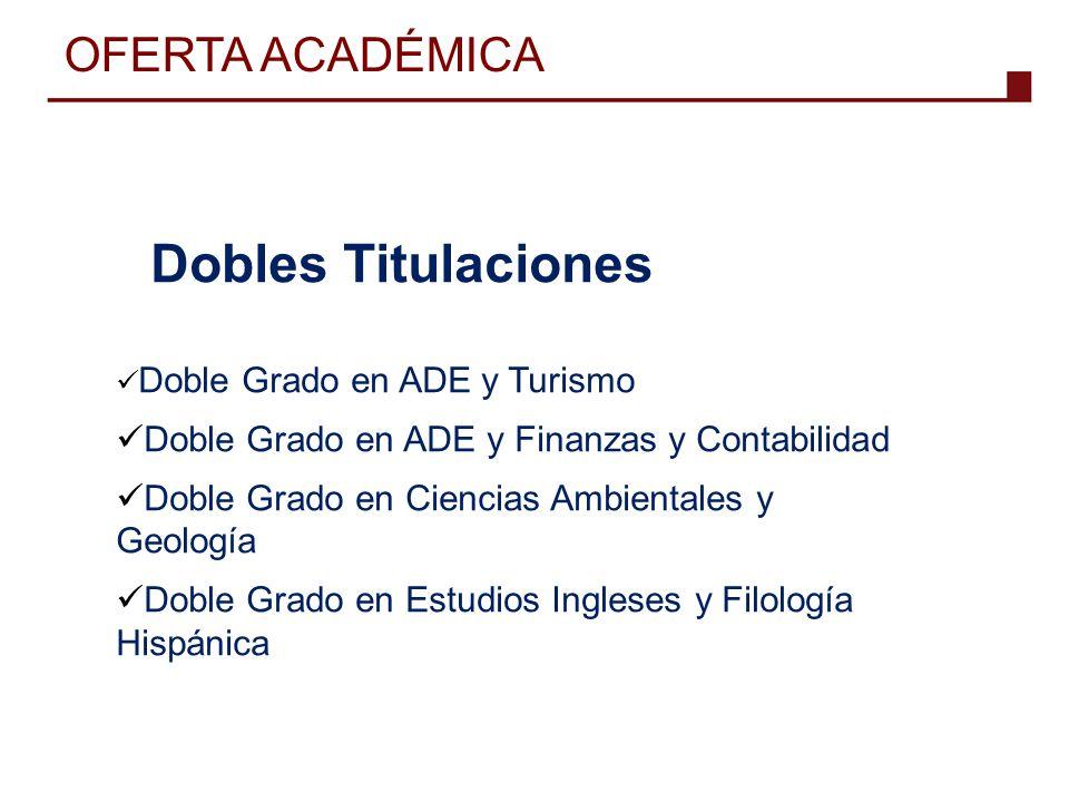 OFERTA ACADÉMICA Dobles Titulaciones