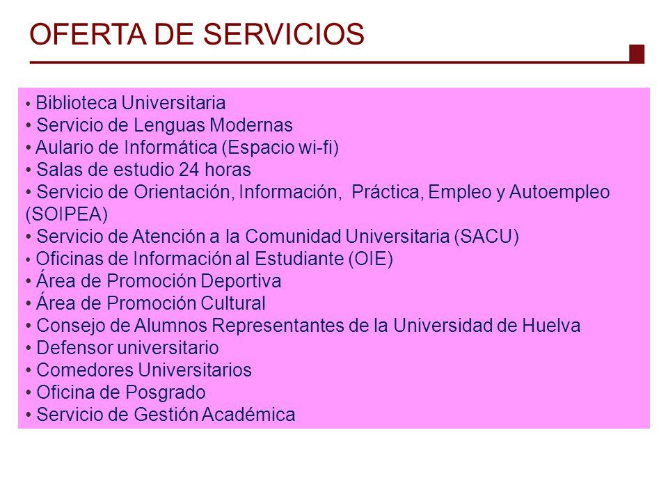 OFERTA DE SERVICIOS Servicio de Lenguas Modernas
