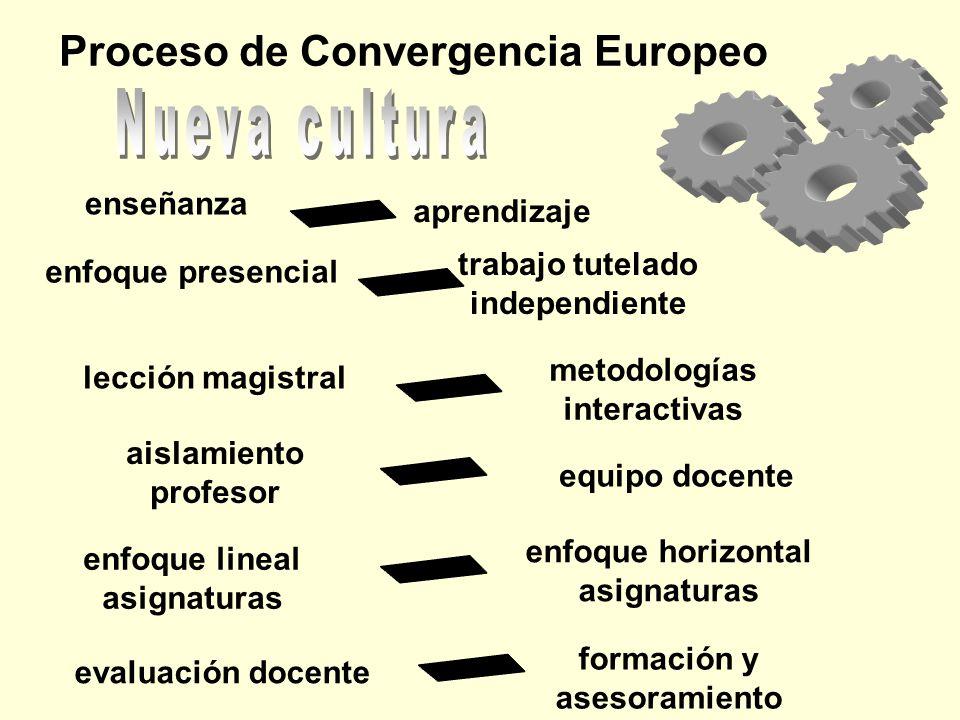 Nueva cultura Proceso de Convergencia Europeo enseñanza aprendizaje