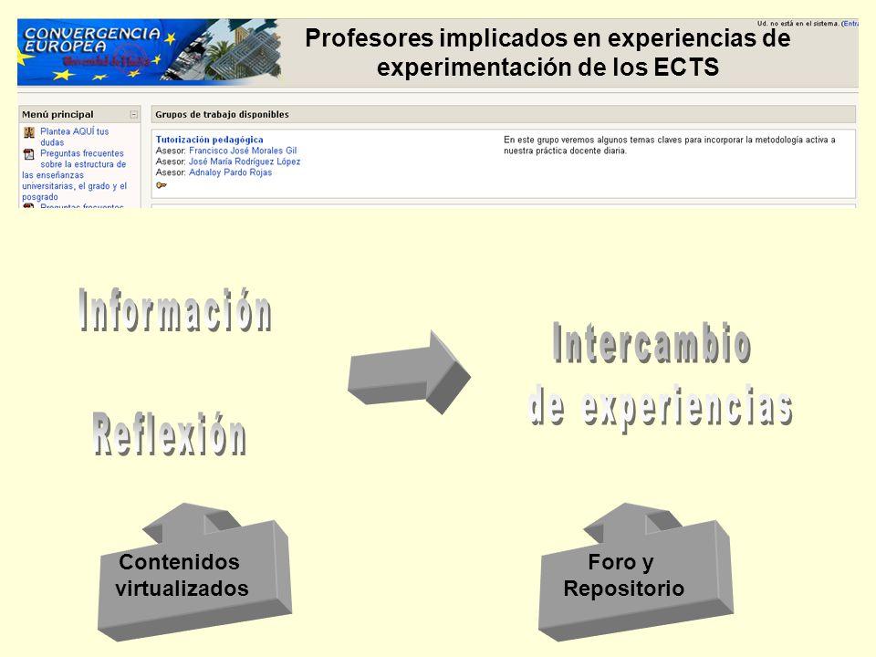 Información Intercambio de experiencias Reflexión