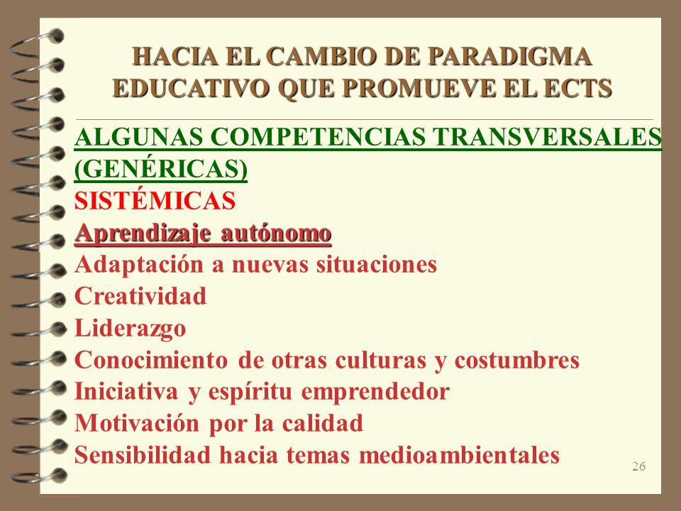 HACIA EL CAMBIO DE PARADIGMA EDUCATIVO QUE PROMUEVE EL ECTS