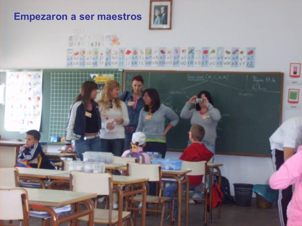 Empezaron a ser maestros