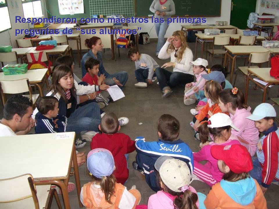 Respondieron como maestros las primeras preguntas de sus alumnos