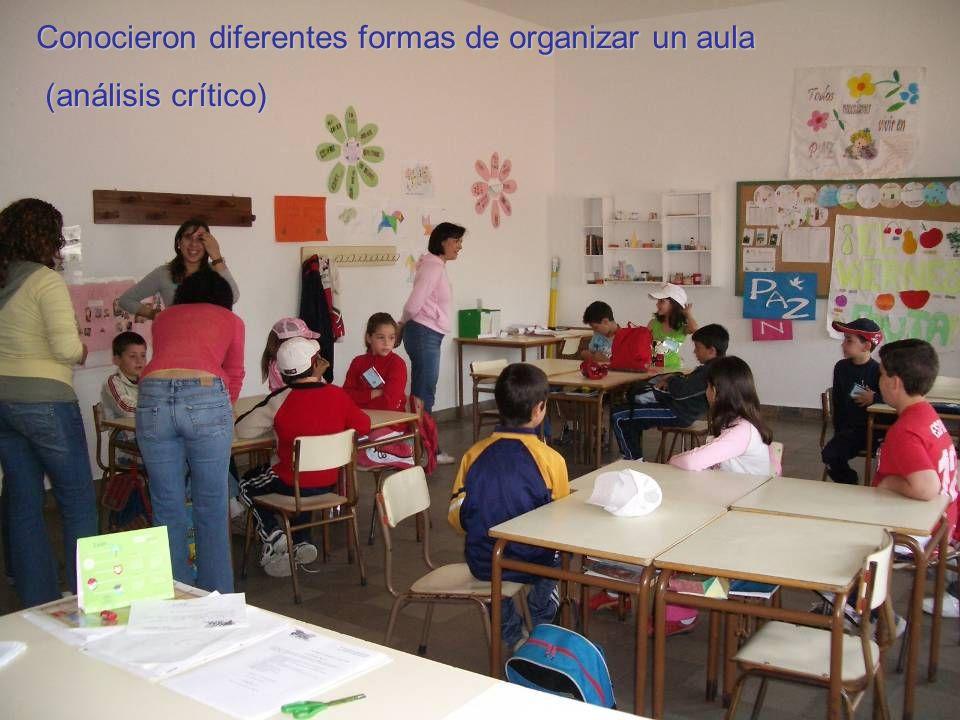 Conocieron diferentes formas de organizar un aula