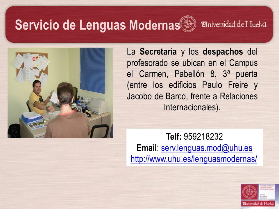 Email: serv.lenguas.mod@uhu.es