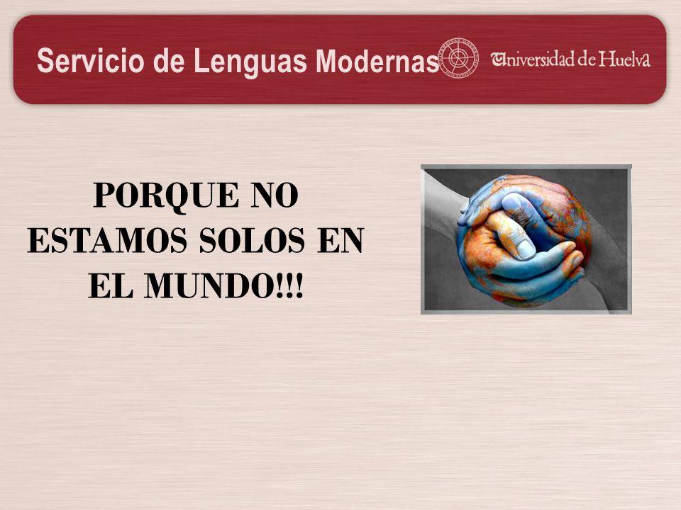 PORQUE NO ESTAMOS SOLOS EN EL MUNDO!!!