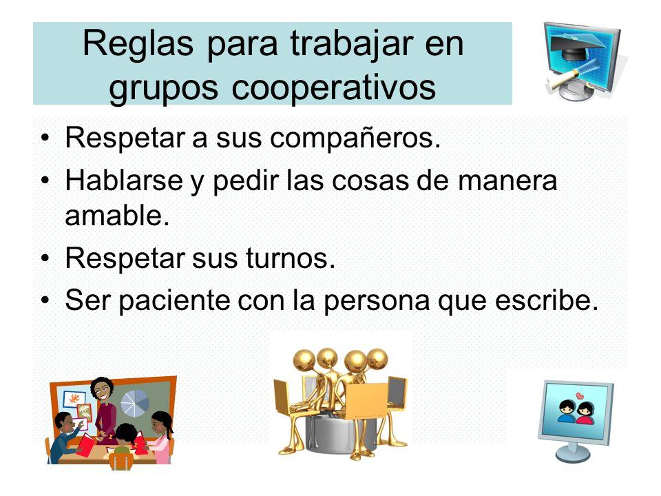 Reglas para trabajar en grupos cooperativos