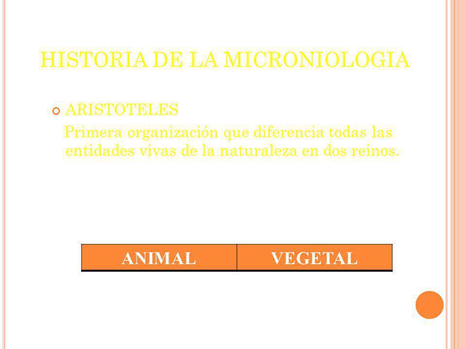 HISTORIA DE LA MICRONIOLOGIA